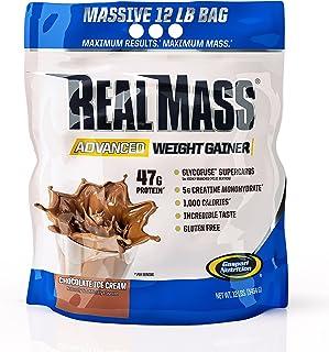 Gaspari Nutrition Real Mass Advanced Weight Gainer, Chocolate Ice Cream, 12 Pound