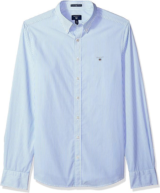 GANT 3046502-468 The Broadcloth Banker Slim Shirt Camisa ...