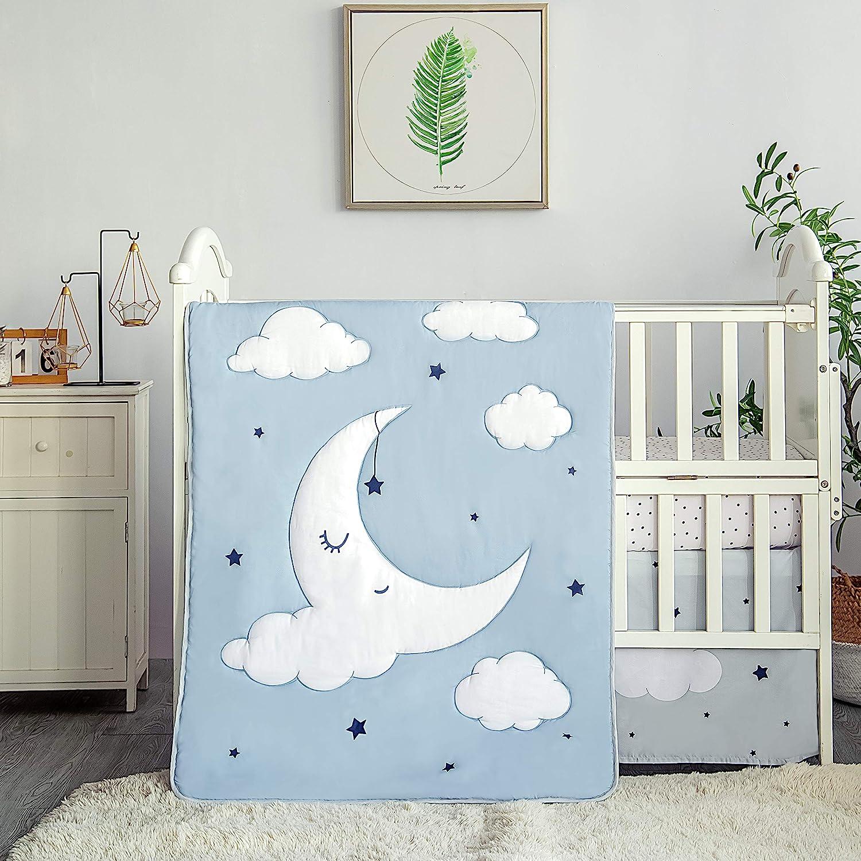 La Premura Sleeping Moon Baby Nursery Crib Brand Cheap Sale Venue Piece Cheap mail order sales Bedding Set 3