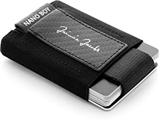 JAIMIE JACOBS Mini Wallet Nano Boy Minimalistic Slim Wallet Thin Credit Card Holder Men (Carbon)