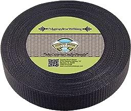 Country Brook Design - 1 1/2 Inch Black Heavy Polypro Webbing, 25 Yards