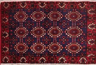 Geometric Tribal 2x3 Balouch Turkoman Oriental Area Rug Carpet 2' 2