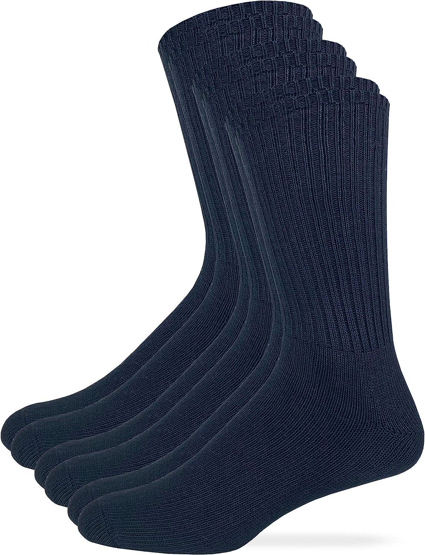 Wrangler Mens Cotton Rib Casual Crew Socks 3 Pair Pack