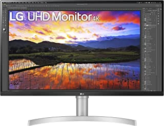 LG 32UN650-W 32 Inch UHD (3840 x 2160) IPS Ultrafine Display with HDR10 Compatibility, DCI-P3 95% Color Gamut, AMD FreeSync, and 3-Side Virtually Borderless Height Adjustable Stand