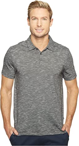 Perry Ellis - Solid Slub Stripe Three-Button Polo Shirt