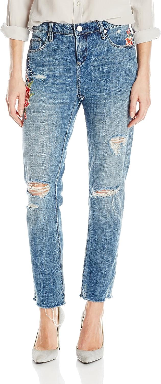 [BLANKNYC] Womens Embroidered Boyfriend Jeans