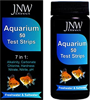JNW Direct 7 in 1 Aquarium Test Strips - Best Kit for Accurate Water Quality Testing for Saltwater & Freshwater Aquariums and Fish Ponds