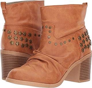 Michael Antonio Women's Jinxy Fashion Boot, Cognac, 6.5 M US