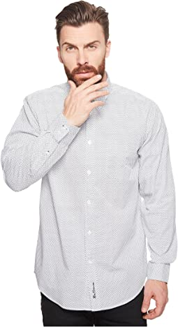 Ben Sherman - Long Sleeve Mini Target Print Shirt