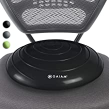 Gaiam Balance Disc Wobble Cushion Stability Core Trainer for Home or Office Desk Chair..