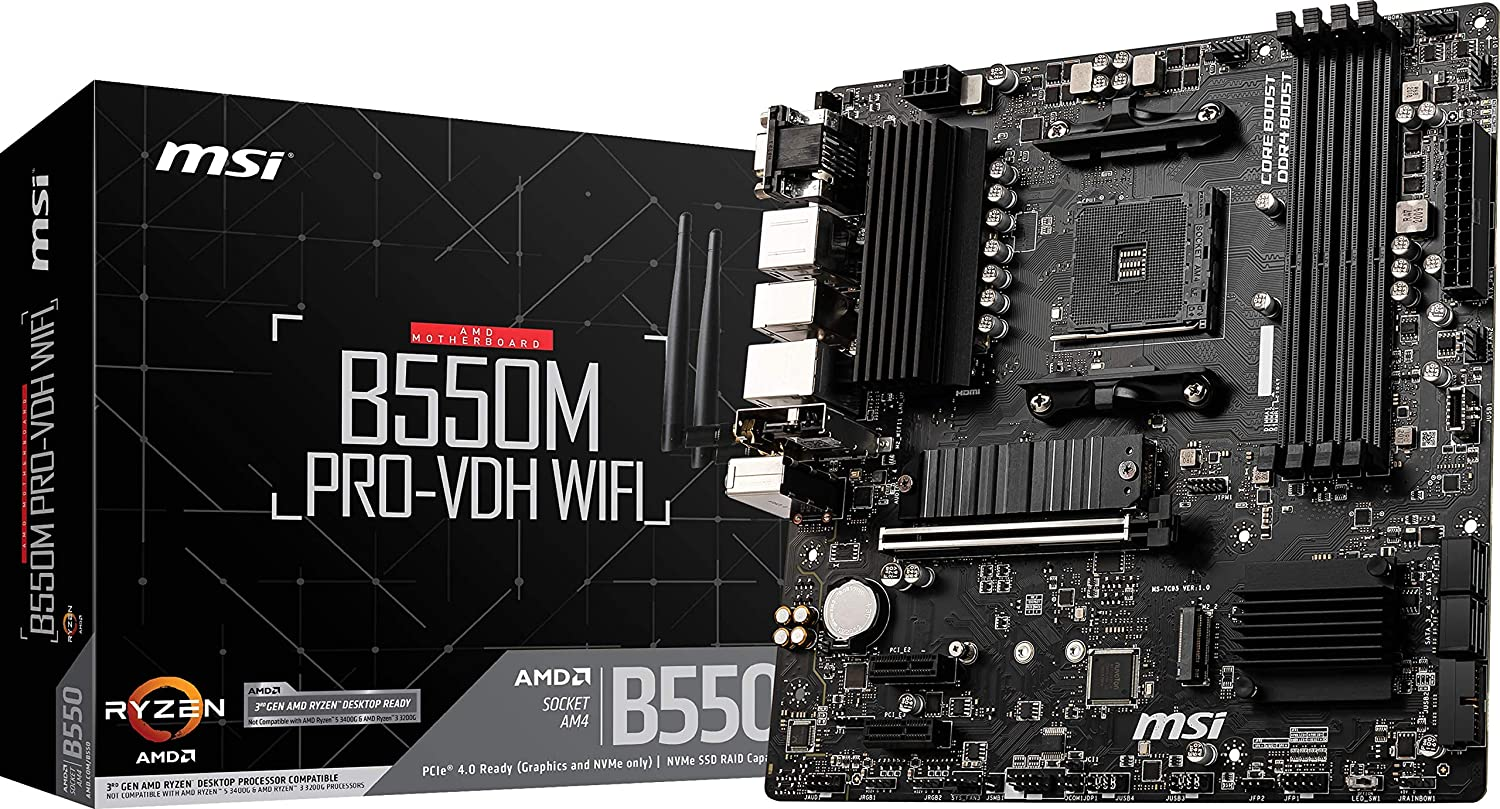 MSI PRO B550M WIFI AM4 AMD B550 SATA 6Gb/s Micro ATX AMD Motherboard $83.99 Coupon
