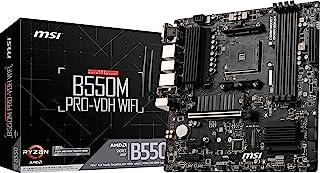 MSI B550M PRO-VDH WiFi ProSeries Motherboard (AMD AM4, DDR4, PCIe 4.0, SATA 6Gb/s, M.2, USB 3.2 Gen 1, Wi-Fi, D-SUB/HDMI/D...