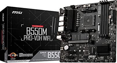 MSI B550M PRO-VDH WiFi ProSeries Motherboard (AMD AM4, DDR4, PCIe 4.0, SATA 6Gb/s, M.2, USB 3.2 Gen 1, AX Wi-Fi 6, D-SUB/HDMI/DP, Micro-ATX)