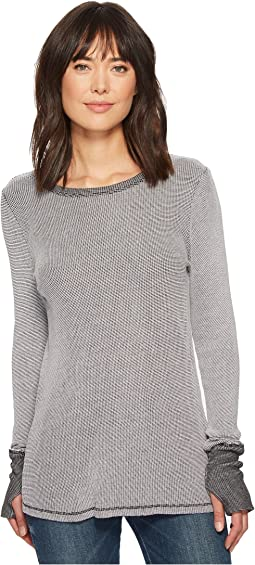 Michael Stars - Dual Thermal Reversible Long Sleeve Crew Neck with Thumbholes