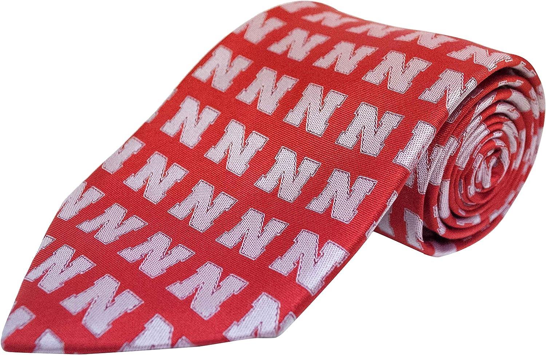 NCAA Nebraska Cornhuskers Repeating Primay Necktie, Red, One Size