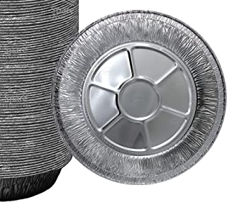 25 Pack 9'' Pie Pans/Disposable Plates/Aluminum Foil Quinche Pan/Tart Tins/Pie Tins/Aluminum Pie Pans