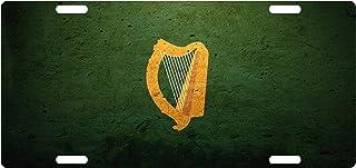 Fast Service Designs Ireland Flag Custom License Plate Irish Emblem HARP Version