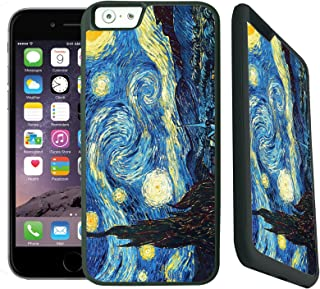 [TeleSkins] - TPU Case For iPhone 6 Plus / 6S PLUS -Vincent Van Gogh The Starry Night - Ultra Durable Slim Fit, Protective Plastic with Soft RUBBER TPU Snap On Back Case / Cover. Fits (5.5