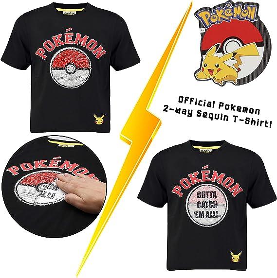 Pokèmon Camiseta Pikachu | Camiseta Lentejuelas Reversibles ...