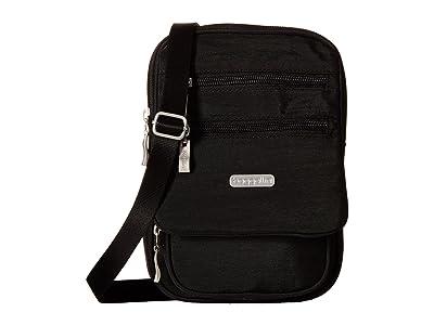 Baggallini Legacy Journey Crossbody (Black With Sand Lining) Cross Body Handbags