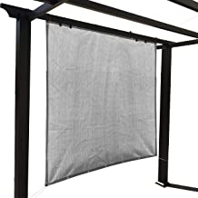 Alion Home Sun Shade Panel Privacy Screen with Grommets on 4 Sides for Outdoor, Patio, Awning, Window Cover, Pergola (8' x 12', Light Grey)