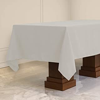 Kadut Rectangle Tablecloth (60 x 126 Inch) White Rectangular Tablecloth for 8 Foot Table | Heavy Duty Washable Table Cloth...
