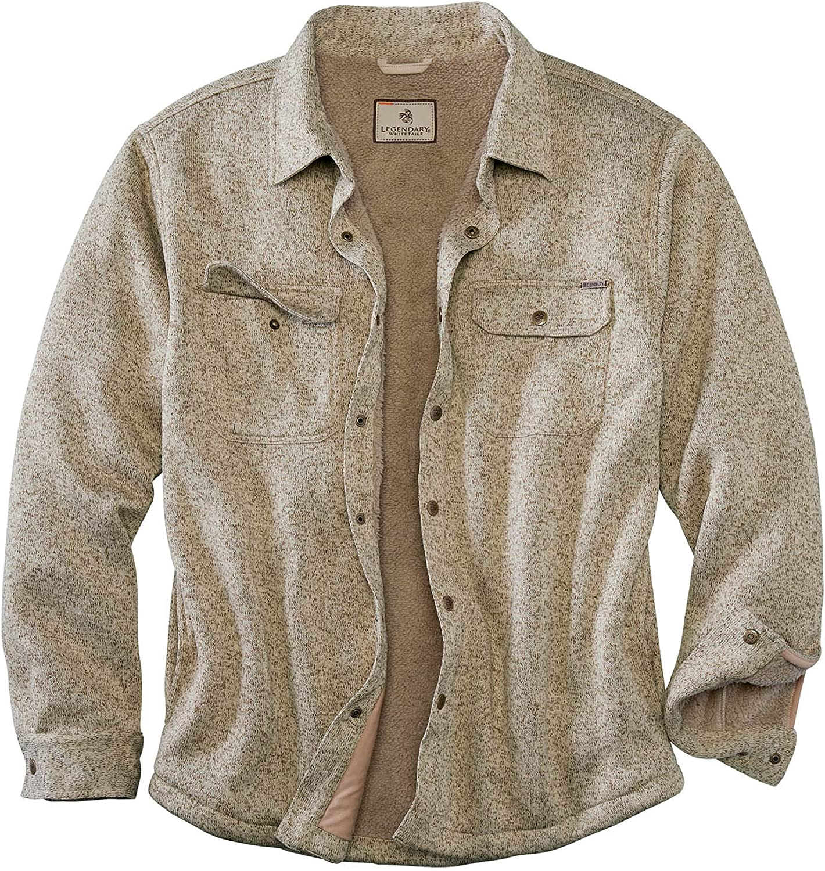 Legendary Whitetails Men's The Camp Rebel Sweater Fleece Shirt Jacket