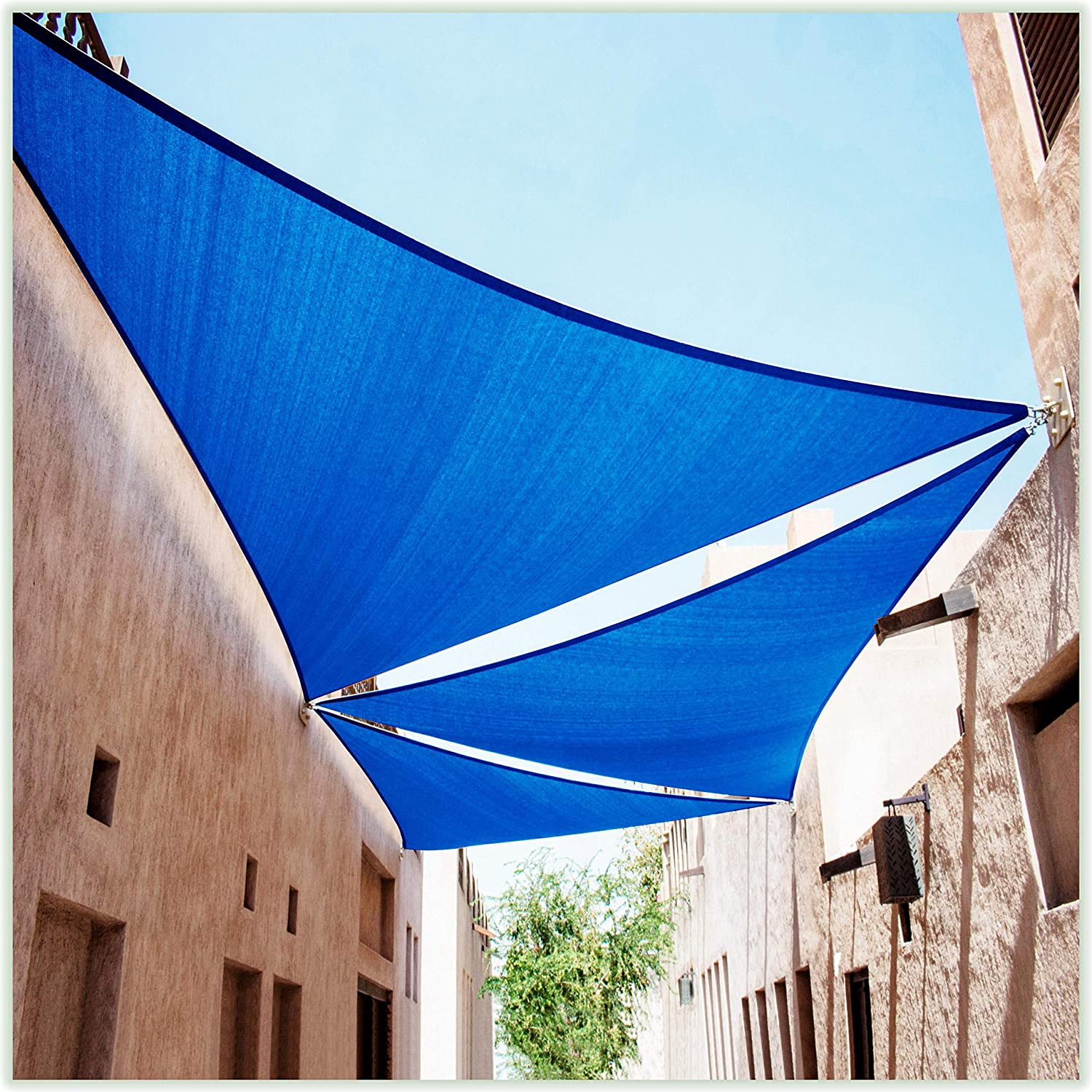 ColourTree 16' x 22.6' Blue Sail OFFicial store Sun CTAPTR Shade 5% OFF Triangle