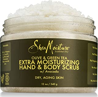 SheaMoisture Olive & Green Tea Hand/Body Scrub, 12 Ounce