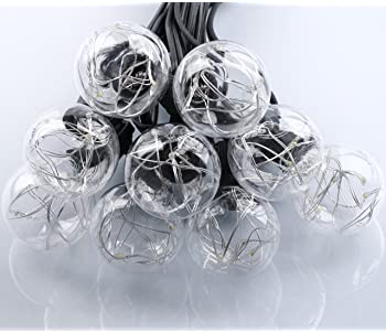 25Ft G40 Outdoor Patio String Lights with 25 Shatterproof LED Globe Bulbs, Energy Saving UL Listed Backyard Patio Lig...