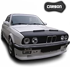 Hood Bra for BMW E30 CARBON Bonnet Car Bra Front End Cover Nose Mask Stoneguard Protector TUNING