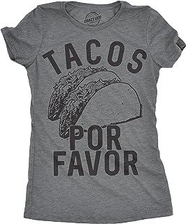تيشيرت Tacos Por Favor للنساء مضحك سينكو دي مايو الإسبانية للسيدات