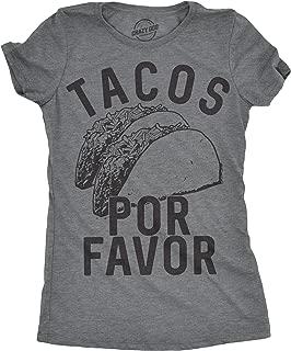 Womens Tacos Por Favor Tshirt Funny Cinco De Mayo Spanish Tee for Ladies
