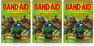 Band-Aid Brand Adhesive Bandages - Teenage Mutant Ninja Turtles - 20 Count Assorted Bandages Per Box - Pack of 3 Boxes