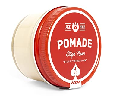 Ace High, High Noon Pomade, Barbershop Scent, Strong Hold, Natural Shine, Water Based, Hand Crafted, 4oz
