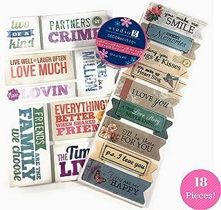Love, Friendship & Memories Scrapbook Kit   Adhesive Foam Stickers - Washi Tape - Vellum Scrapbook Stickers  
