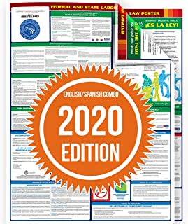 Compliance Assistance - 2020 Connecticut State and Federal All-in-one Labor Law Poster - Laminated (English/Spanish Combo - Two Posters)