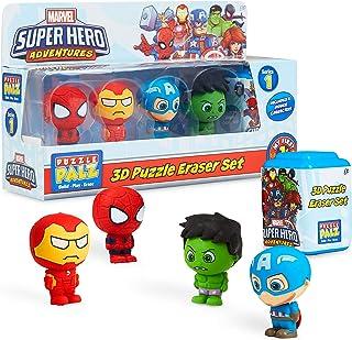 Marvel Speelgoed voor jongens leeftijd 3 +, Pack van 5 verzamelbare actiefiguren Set met Superheld Spiderman Iron Man Capt...