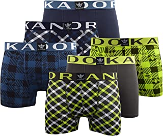 Kandor Mens Boxers Shorts (5-6 Pack) Multipacked Underwear Gift Set, Mens Boxers Trunk