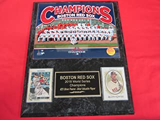 2018 Red Sox World Series Champions 2 Card Collector Plaque #2 w/ 8x10 Color Team Photo