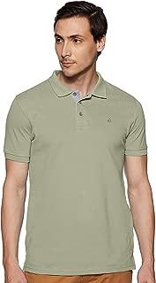 United Colors of Benetton Men's Plain Regular fit Polo (19P3DTPE0032I_A24_L_Light Olive_L)