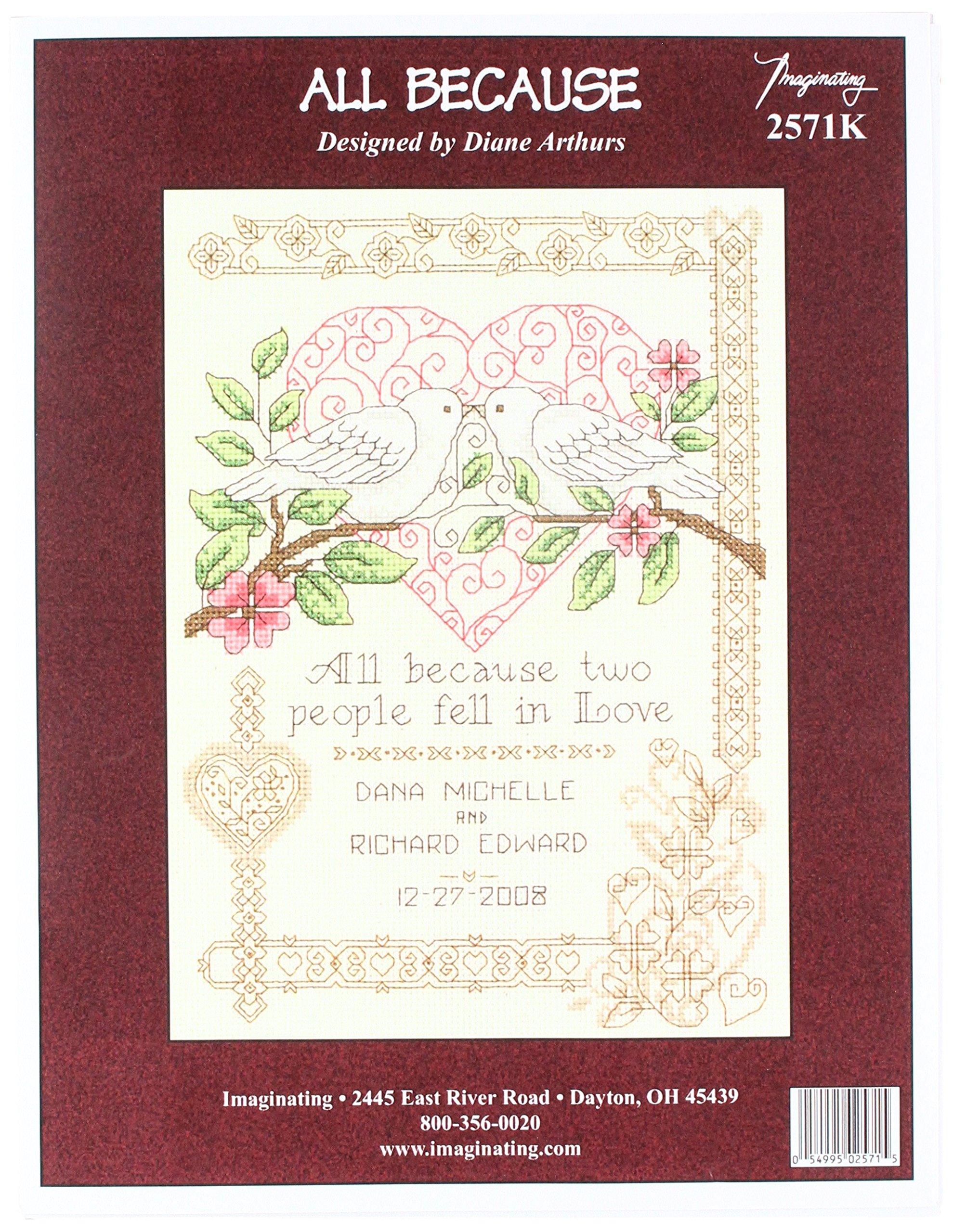 Mini Janlynn 21-1747 Wedding Floral 5 by 7-Inch Counted Cross Stitch Kit