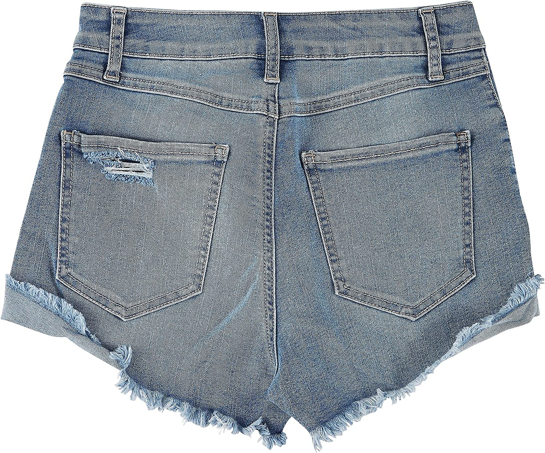 Rewash Juniors The Riley 5-Button Closure Denim Shorts 1 Medium wash