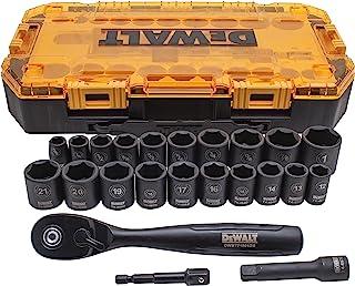 DEWALT Conjunto de soquetes de impacto, 23 peças, unidade métrica/SAE (DWMT74738)