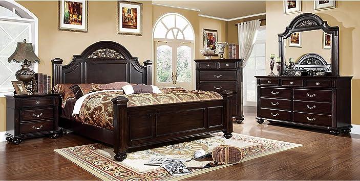 Amazon.com: 11SHOPATHOME bedroom-furniture-sets, Queen, Walnut
