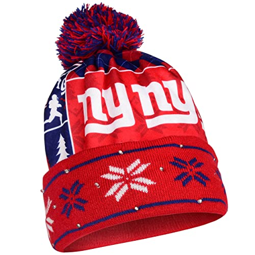 New York Giants Exclusive Busy Block Printed Light Up Beanie c786d3c12