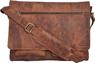dab9f03ace2 Leather Messenger Bag for Men & Women 14inch laptop Bag for Travel College  Work - Handmade