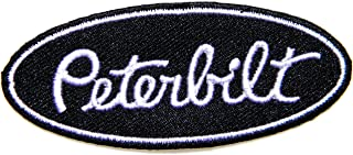 Peterbilt Truck Logo Sign Patch Sew Iron on Applique Embroidered T shirt Jacket Costume BY SURAPAN