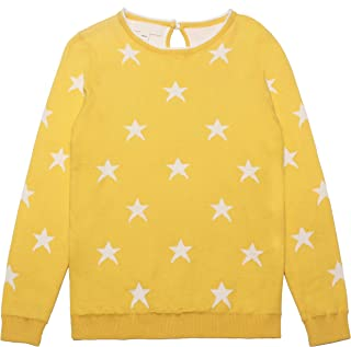 34408a018e Mini Phoebee Little Girls  Crew Neck Star Pattern Cute Knitted Pullover  Sweater