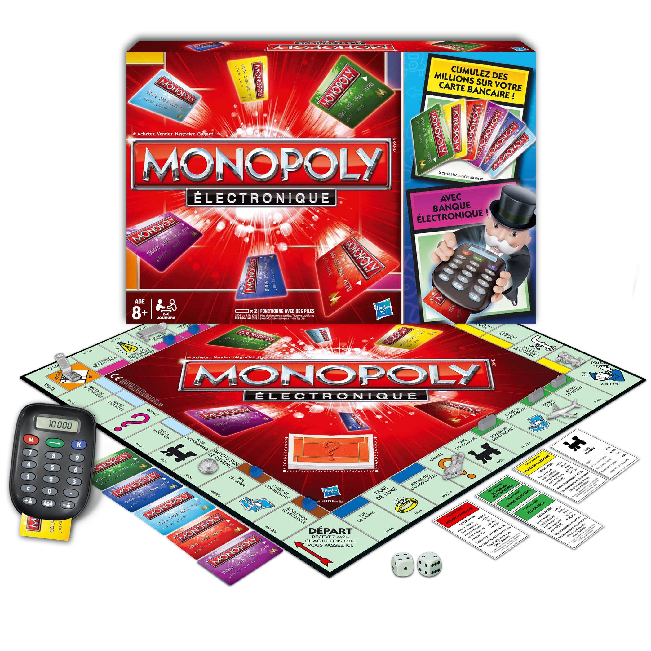 Hasbro 377121010 Monopoly - Juego de Mesa (electrónico) [Importado de Francia]: Amazon.es: Juguetes y juegos